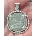 COLGANTE PLATA 2 PESETAS 1870