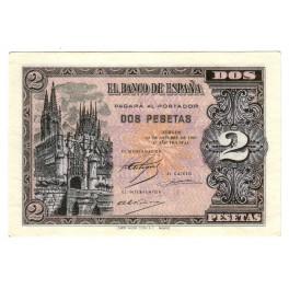 RARAS 2 PESETAS OCTUBRE 1937 BURGOS