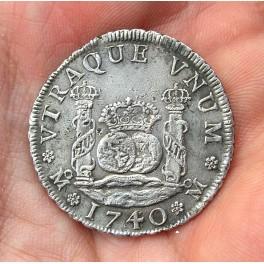 COLUMNARIO 4 REALES FELIPE V 1740 MÉXICO -Pecio Hollandia-