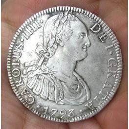 8 REALES CARLOS IV 1793 MÉXICO